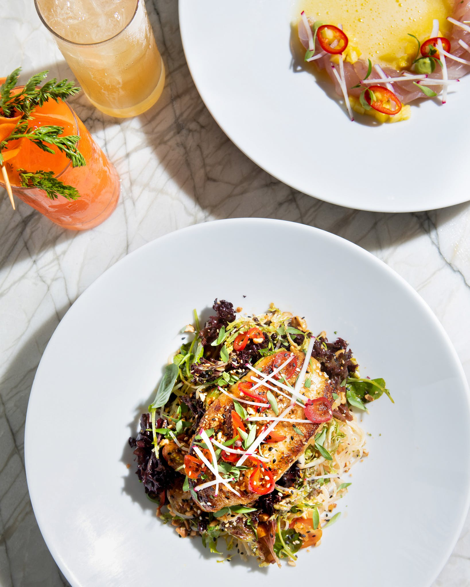 At Tonight & Tomorrow, the new restaurant helmed by chef and native Texan Jonathan Wicks, plates are as pleasing to the eye as they are to the palette.