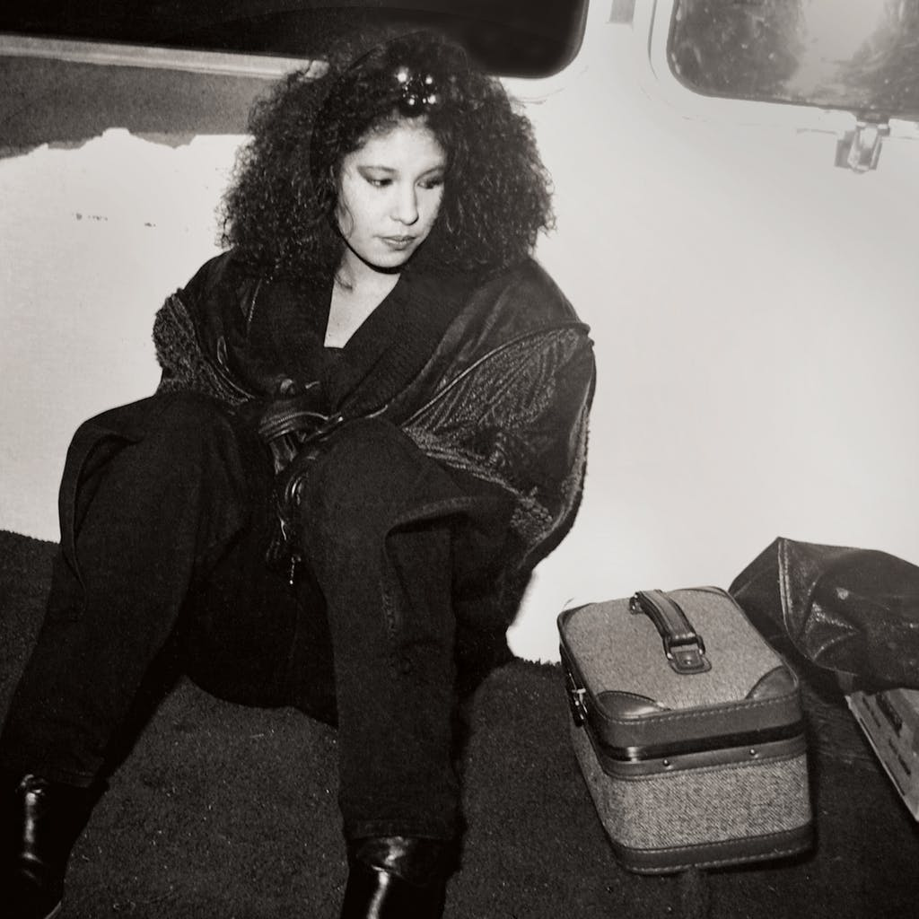 Selena in her tour bus prior to a show in Grand Prairie in December 1988.