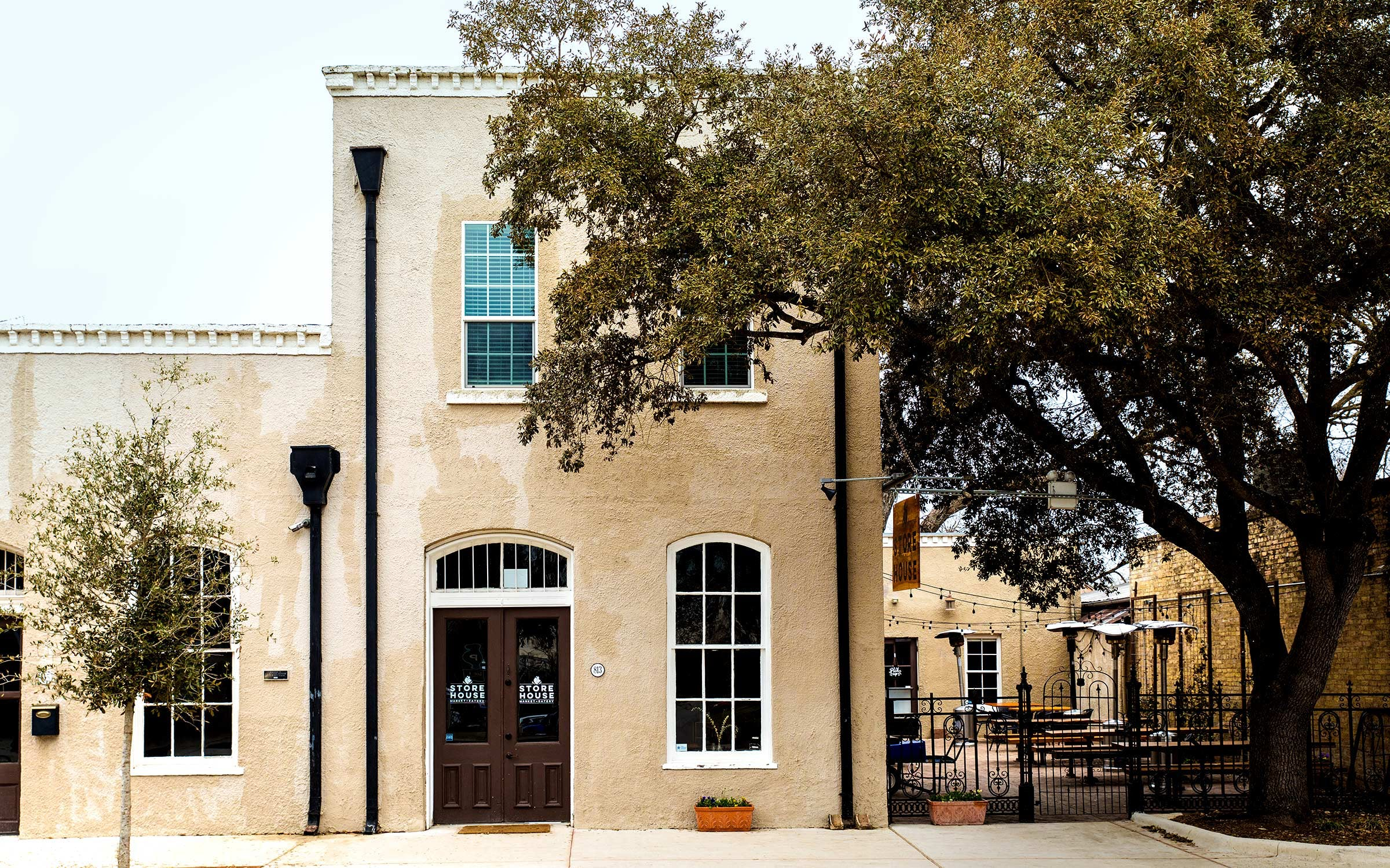 The exterior of Store House Market & Eatery.
