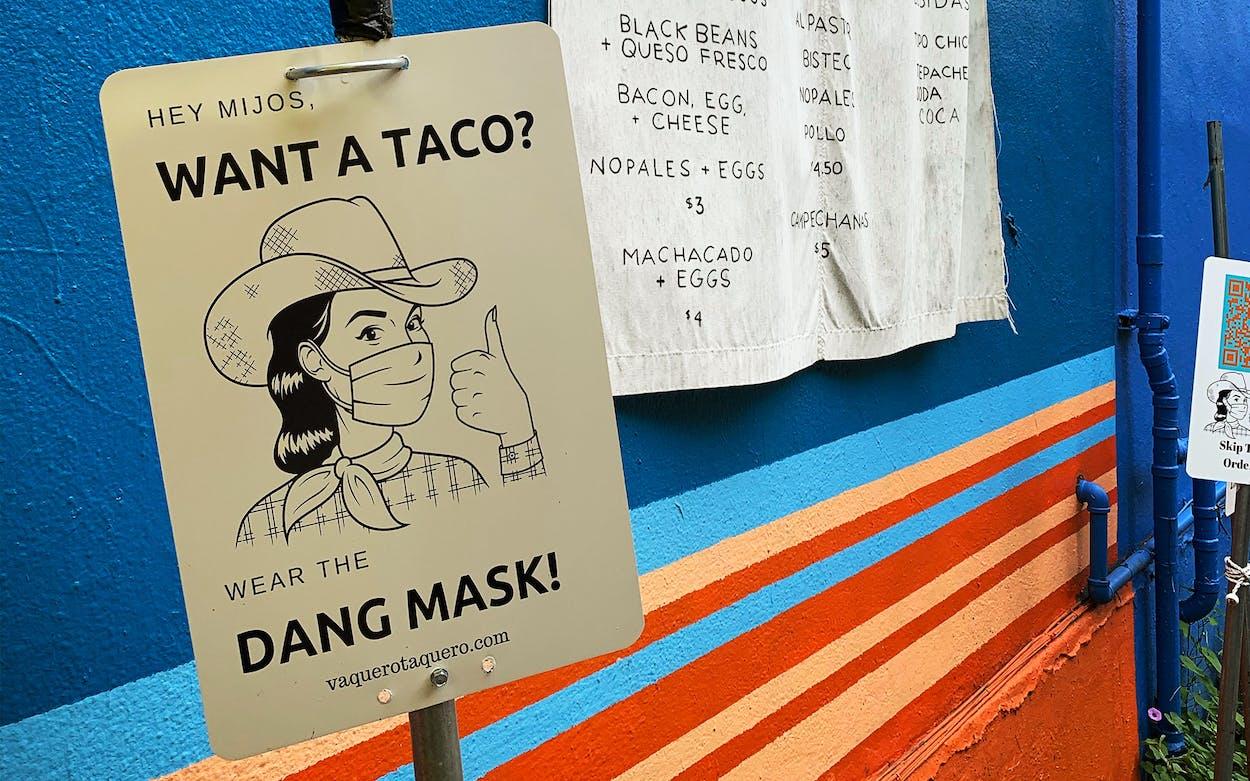 vaquero-taquero-wear-mask-sign