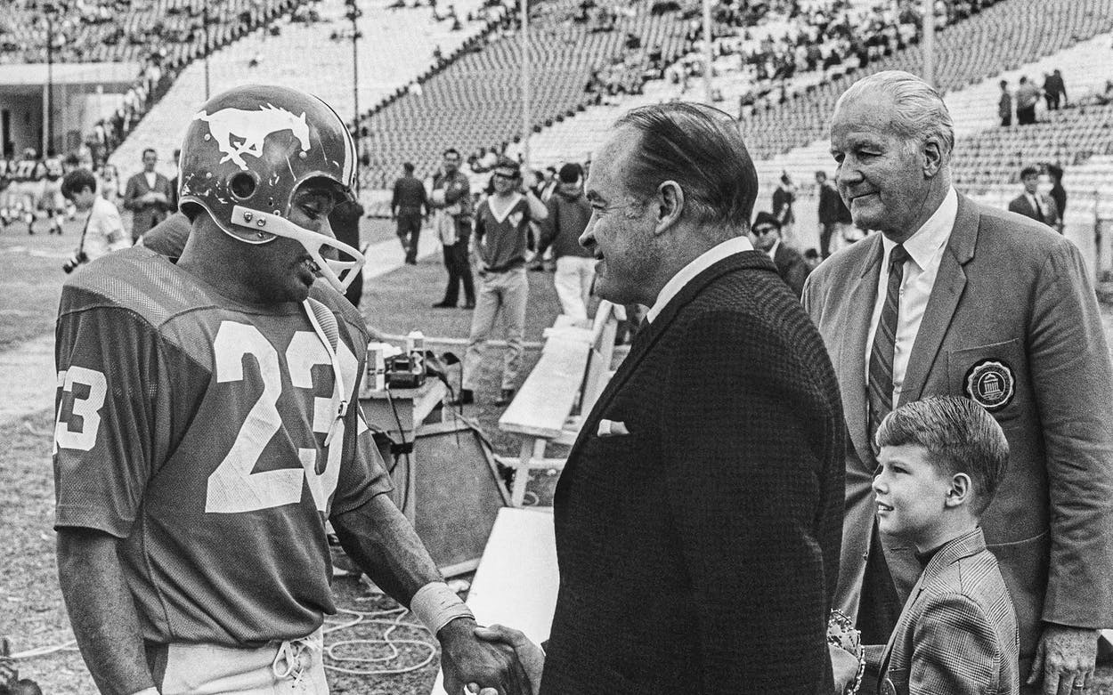 Jerry LeVias with Bob Hope, Homecoming 1968.