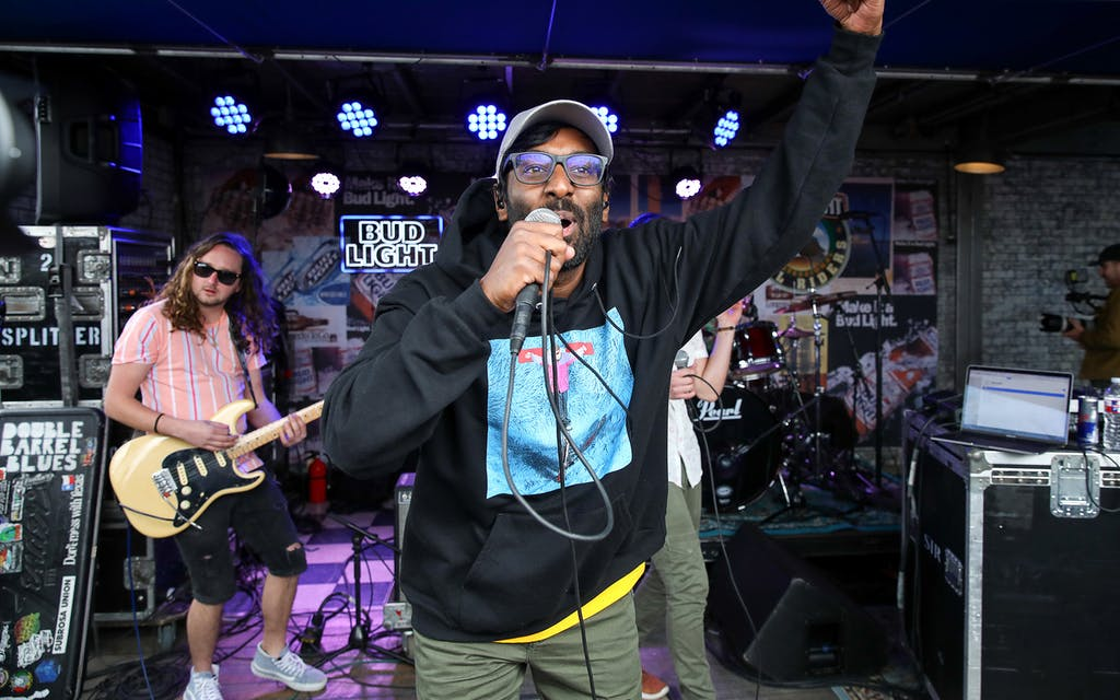 Abhi the Nomad performing at SXSW Dive Bar Sessions on March 15, 2019.
