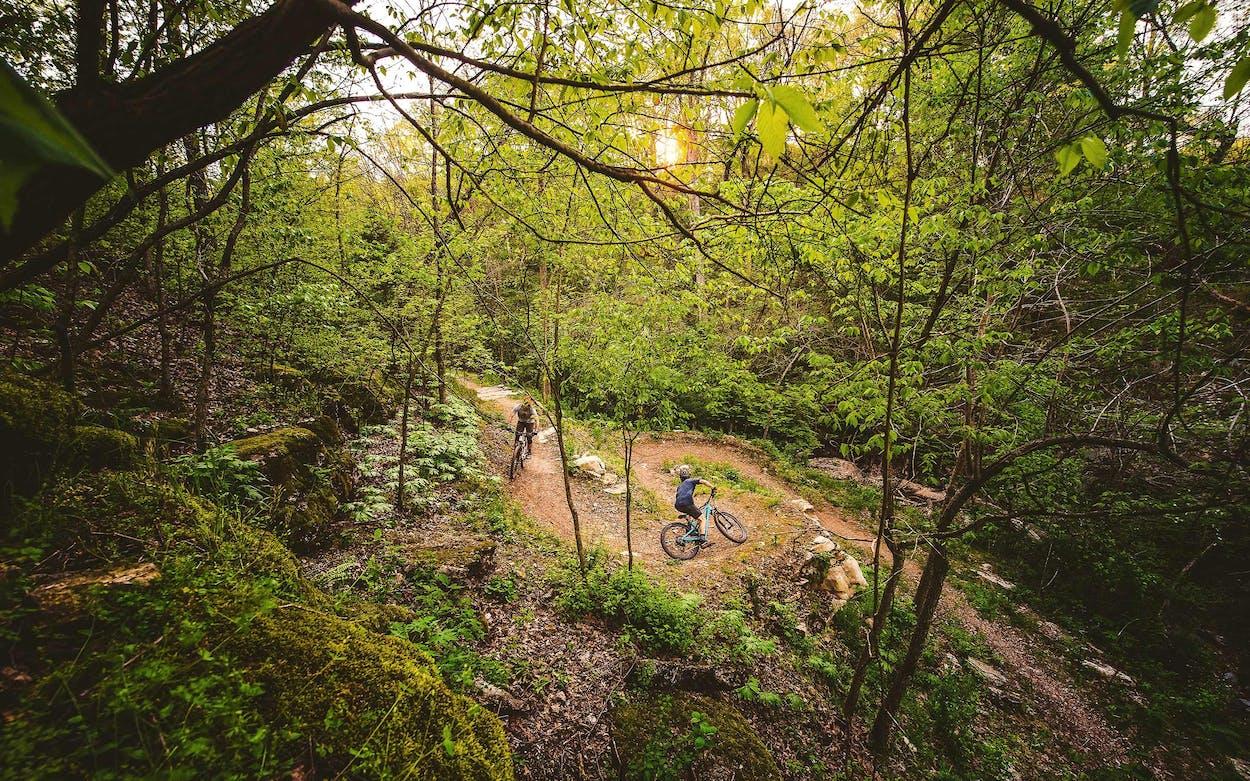 Bentonville Arkansas mountain biking trail