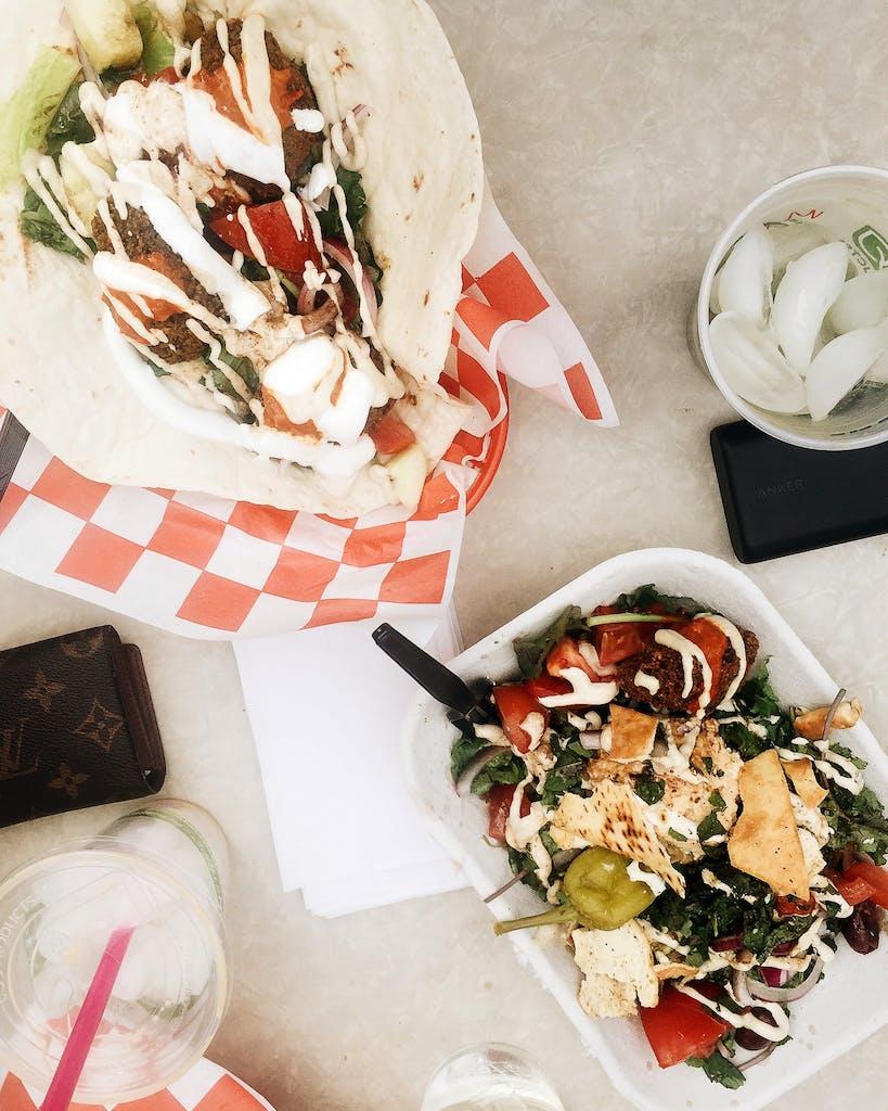 A spread from Food Shark in Marfa.