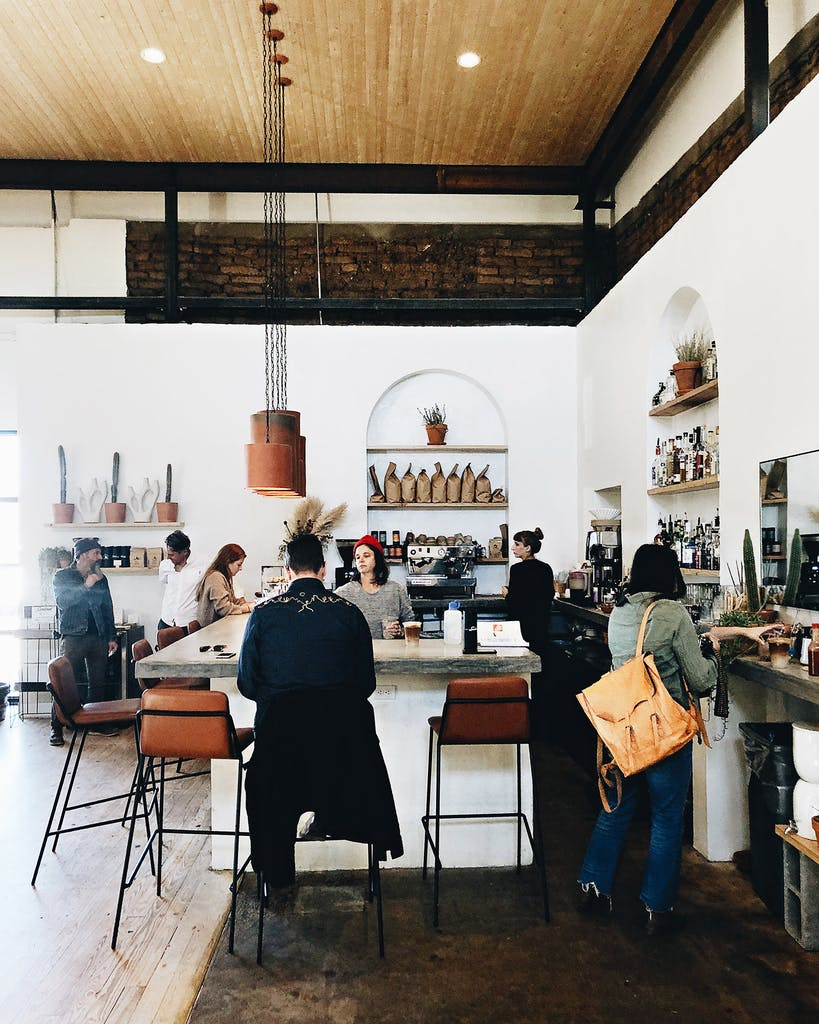 The interior of The Sentinel in Marfa.