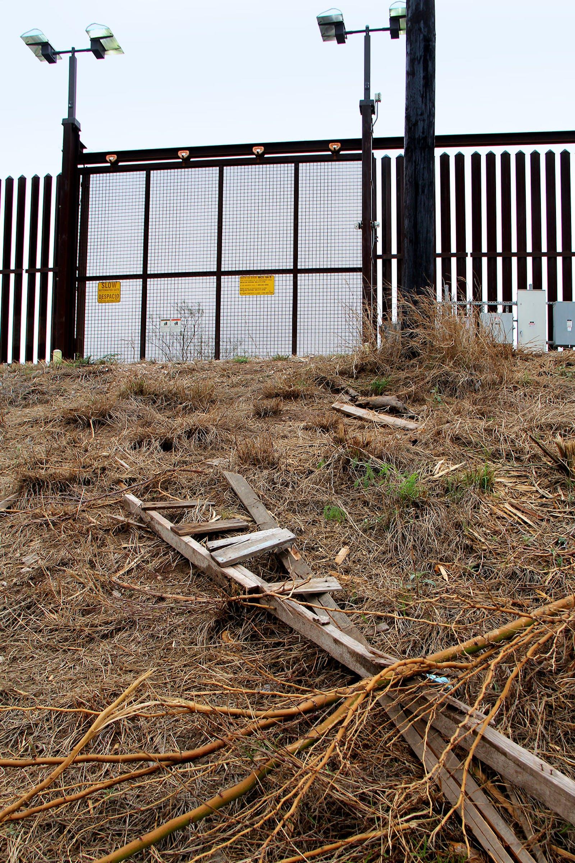 Ladder at the border wall.