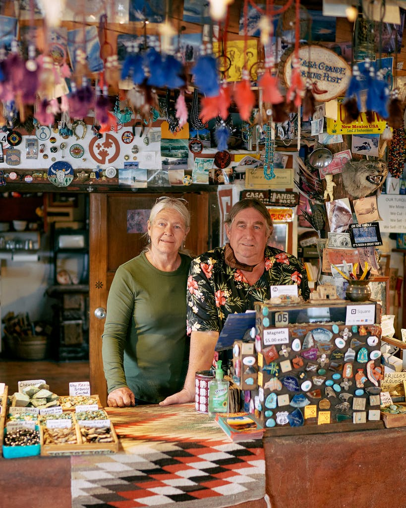 Patricia and Todd Brown, of Casa Grande Trading Post, in Cerrillos.