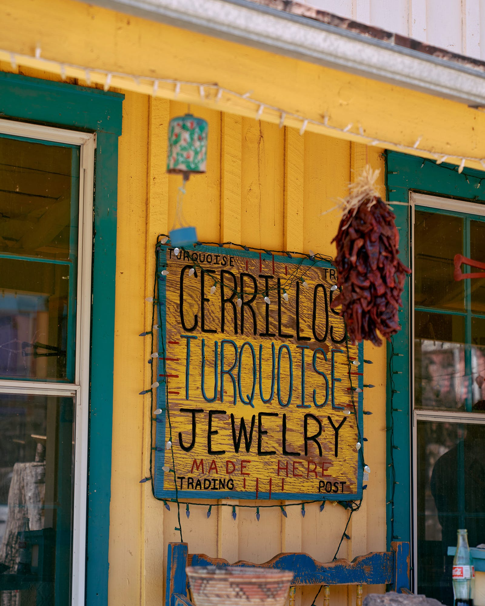 Located along the Turquoise Trail in Madrid, the Gypsy Gem touts one of its biggest sellers, Cerrillos turquoise jewelry.