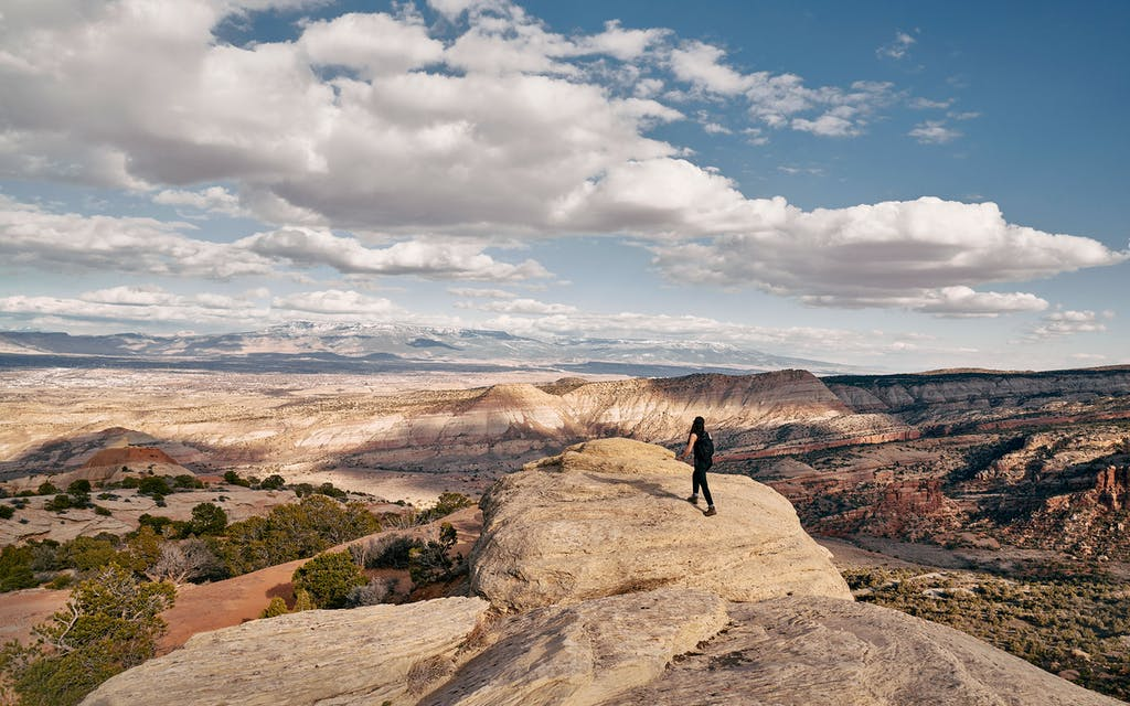 A hiker at Colorado National Monument.