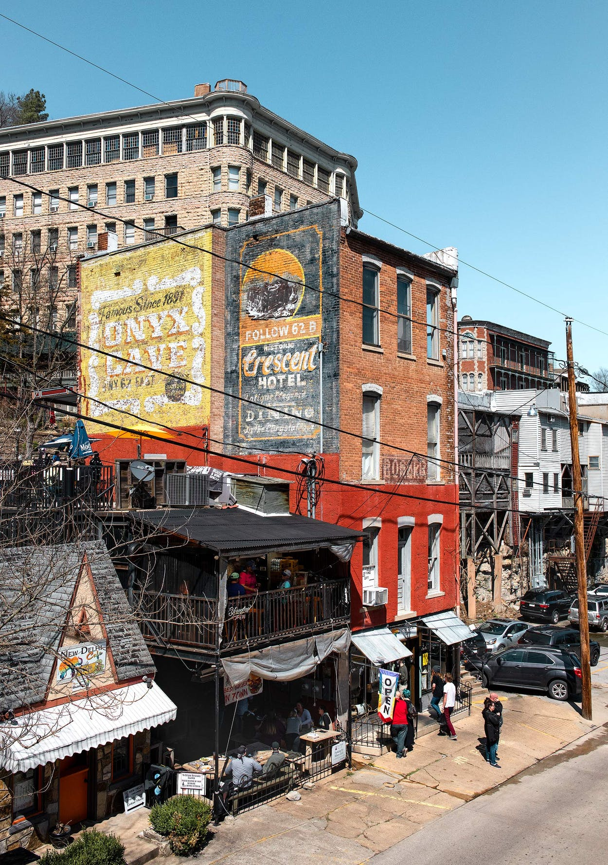 Downtown Eureka Springs on March 20, 2021.