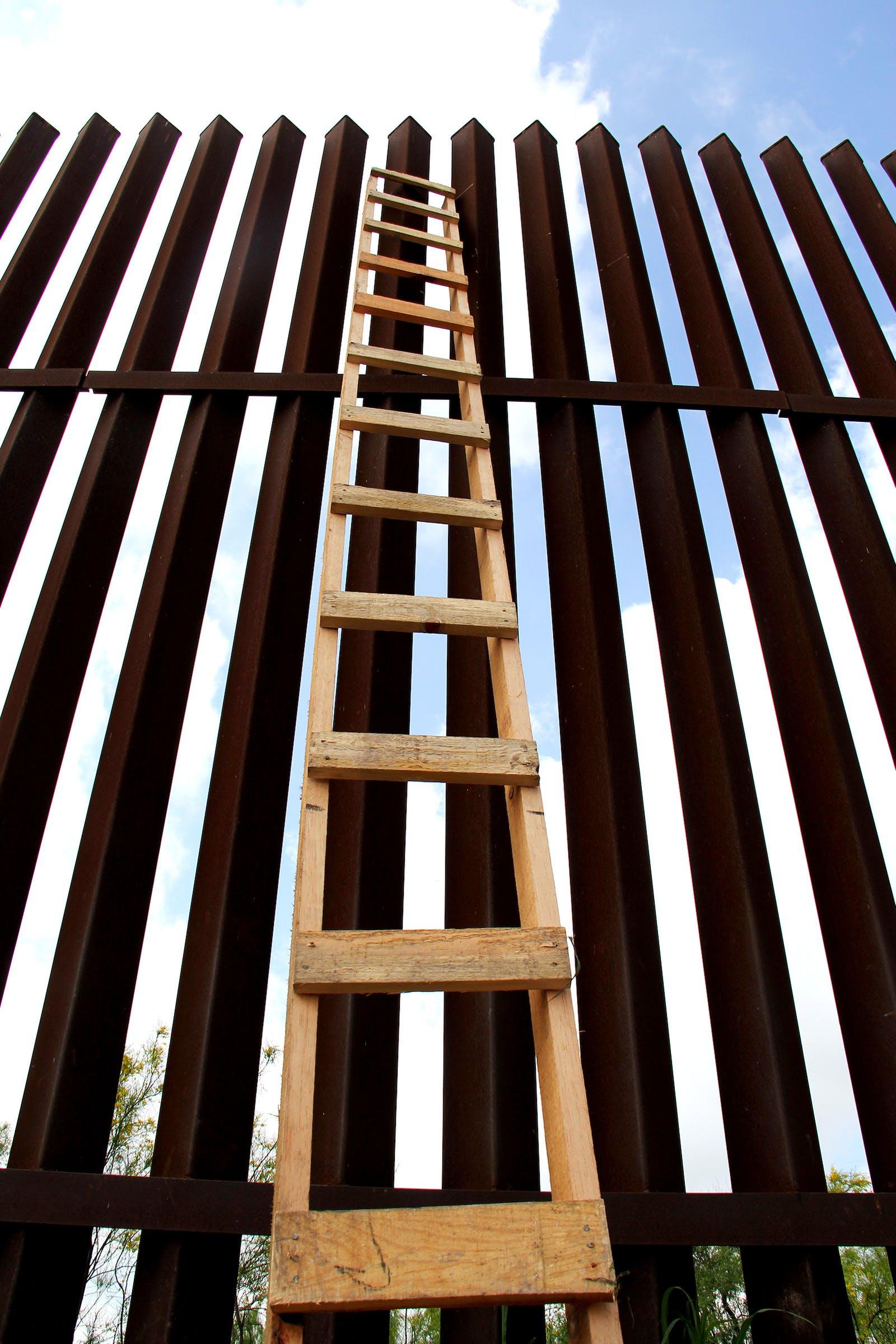 A ladder at Hidalgo's pumphouse.