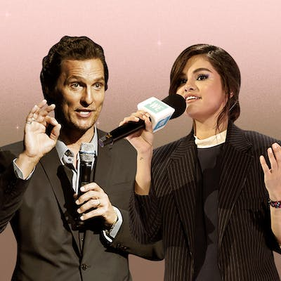 hollywood texas Illustration mathew mcconaughey and selena gomez