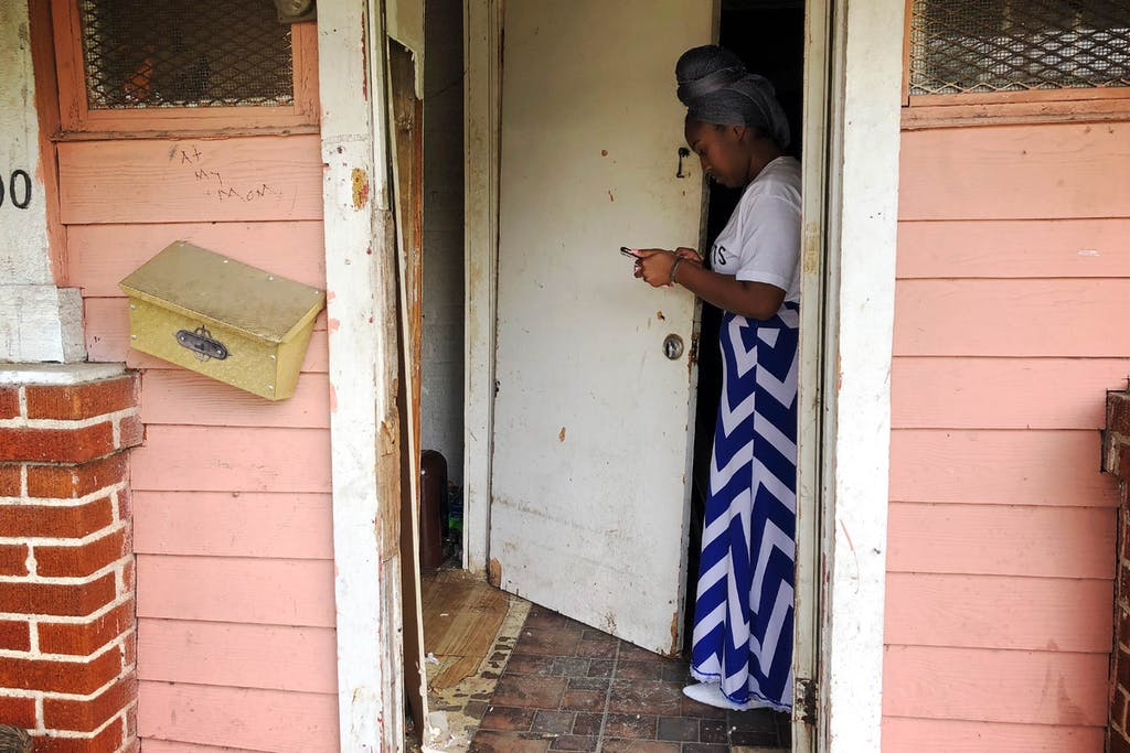 Humi Jackson at her home in Houston's Third Ward.