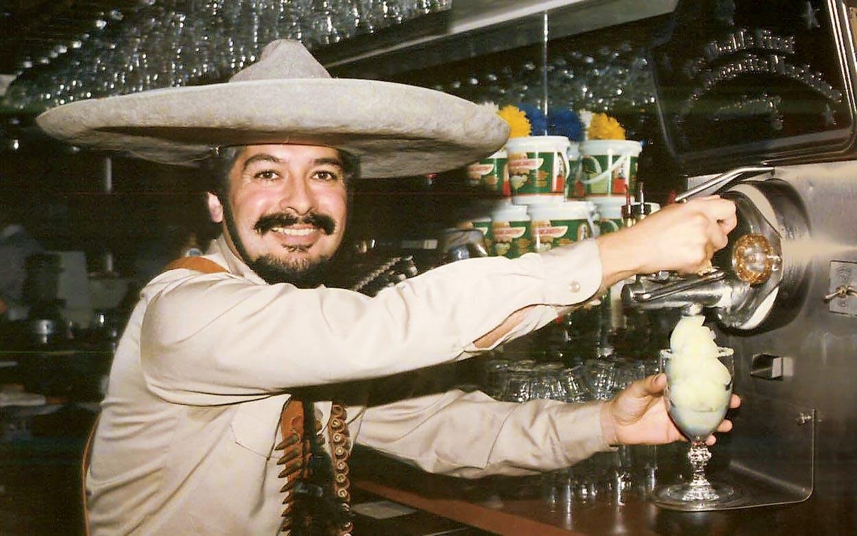 Martinez at the original Mariano's Mexican Cuisine, in Dallas, in 1991.