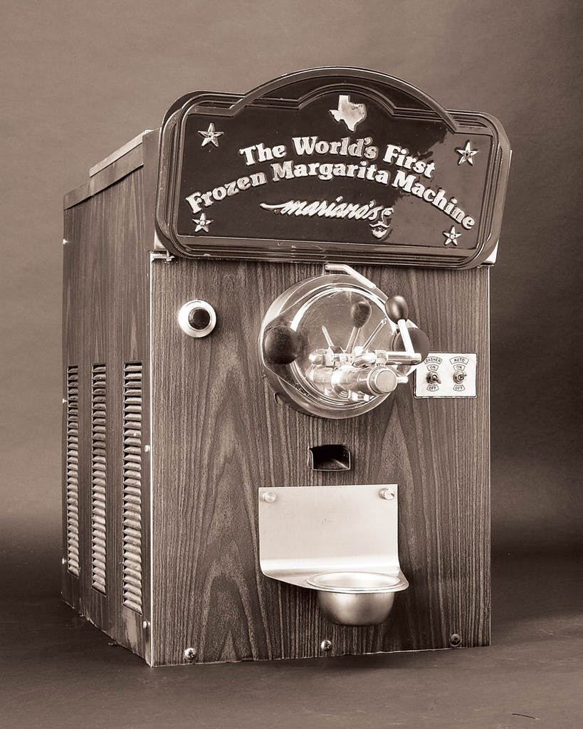 Martinez's original margarita machine, which has resided at the Smithsonian, in Washington, D.C., since 2003.
