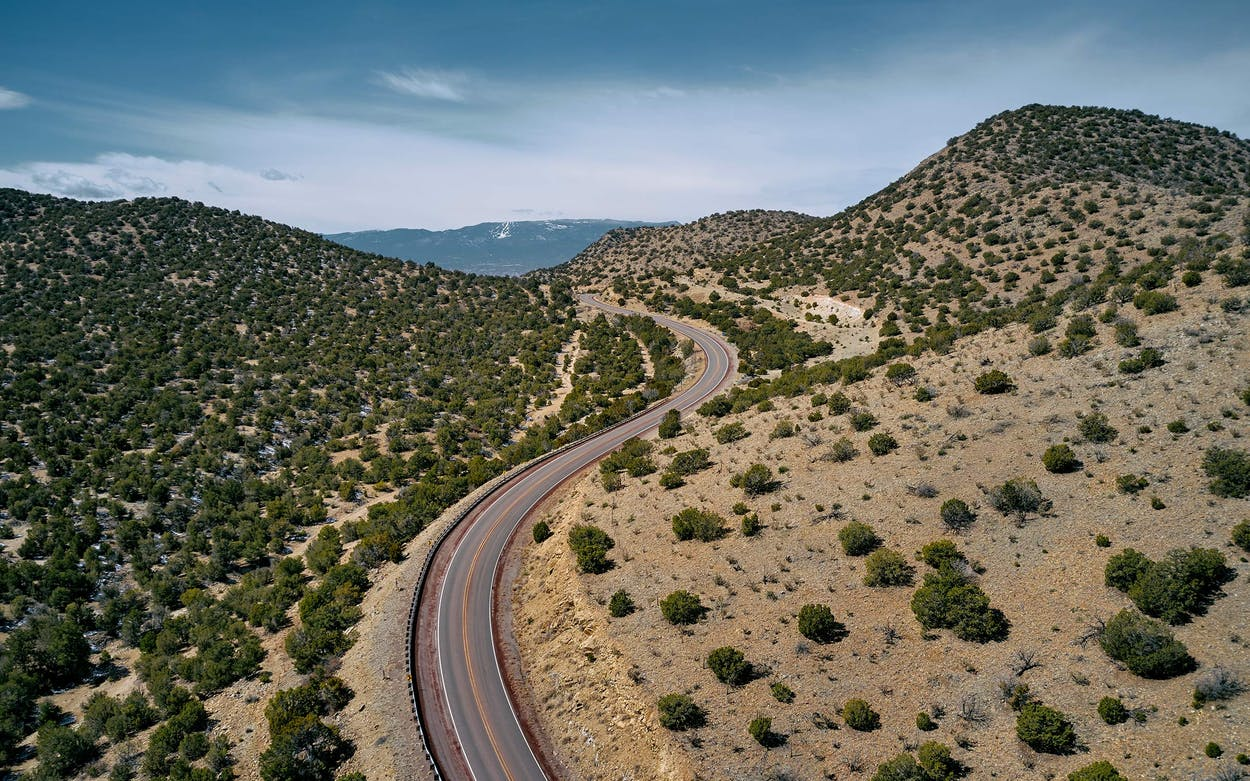The Ortiz Mountain foothills, on the Turquoise Trail.