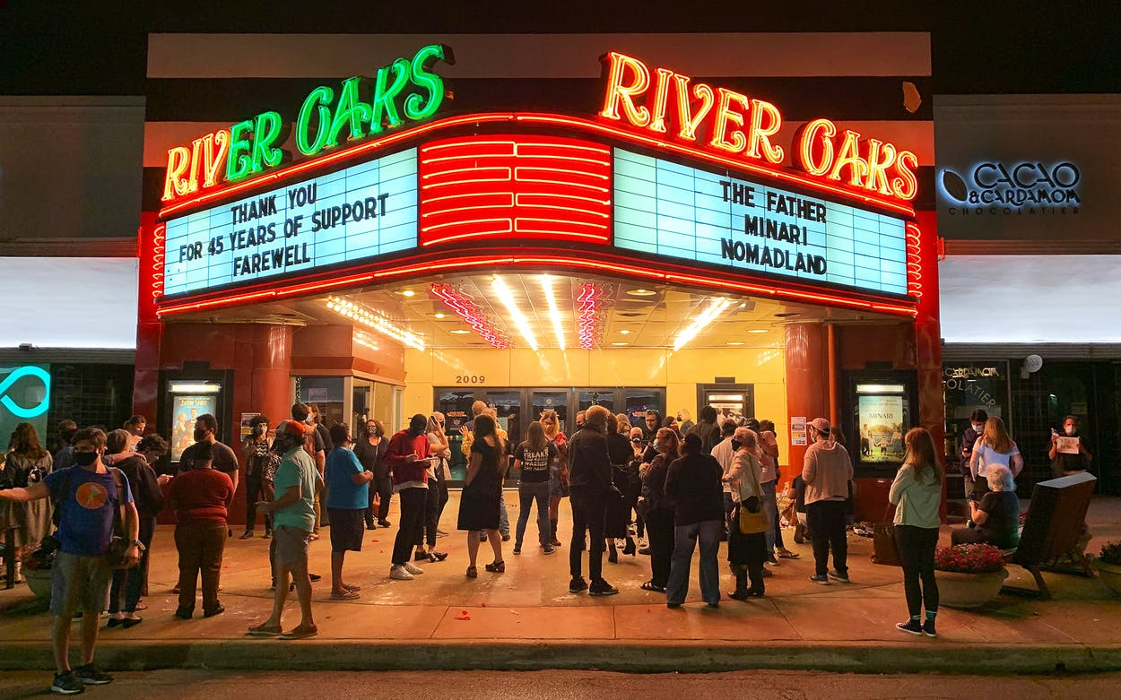 River Oaks Theatre on closing night, March 25, in Houston