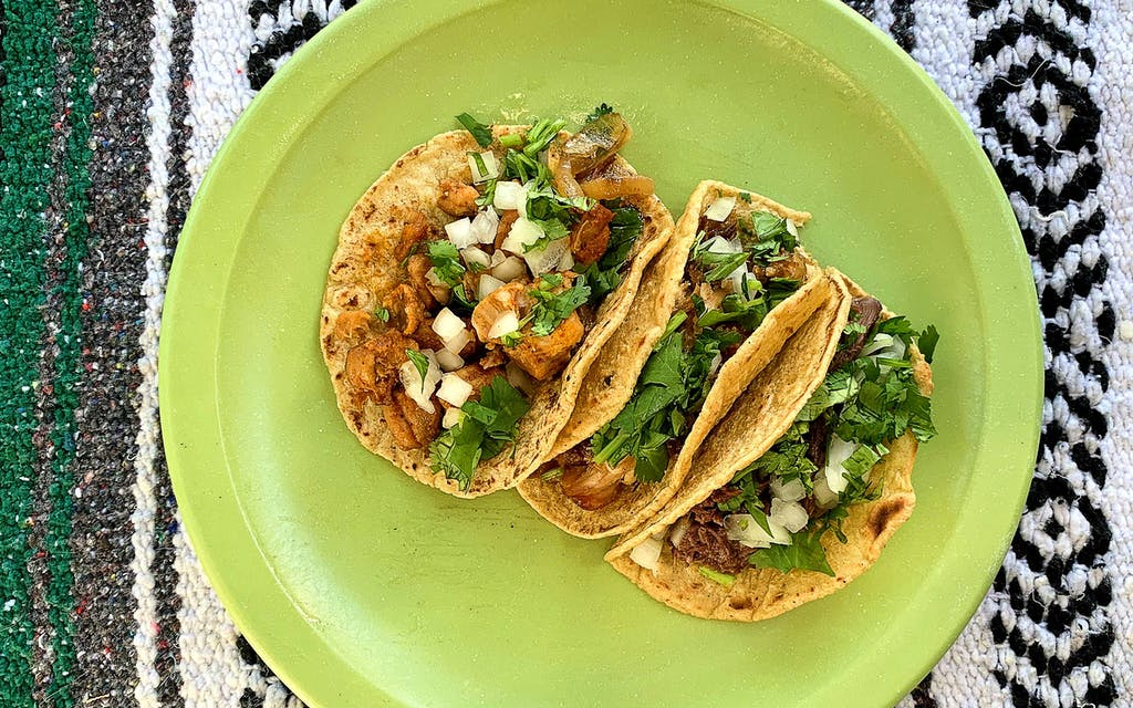Tacos from Santos Tacos