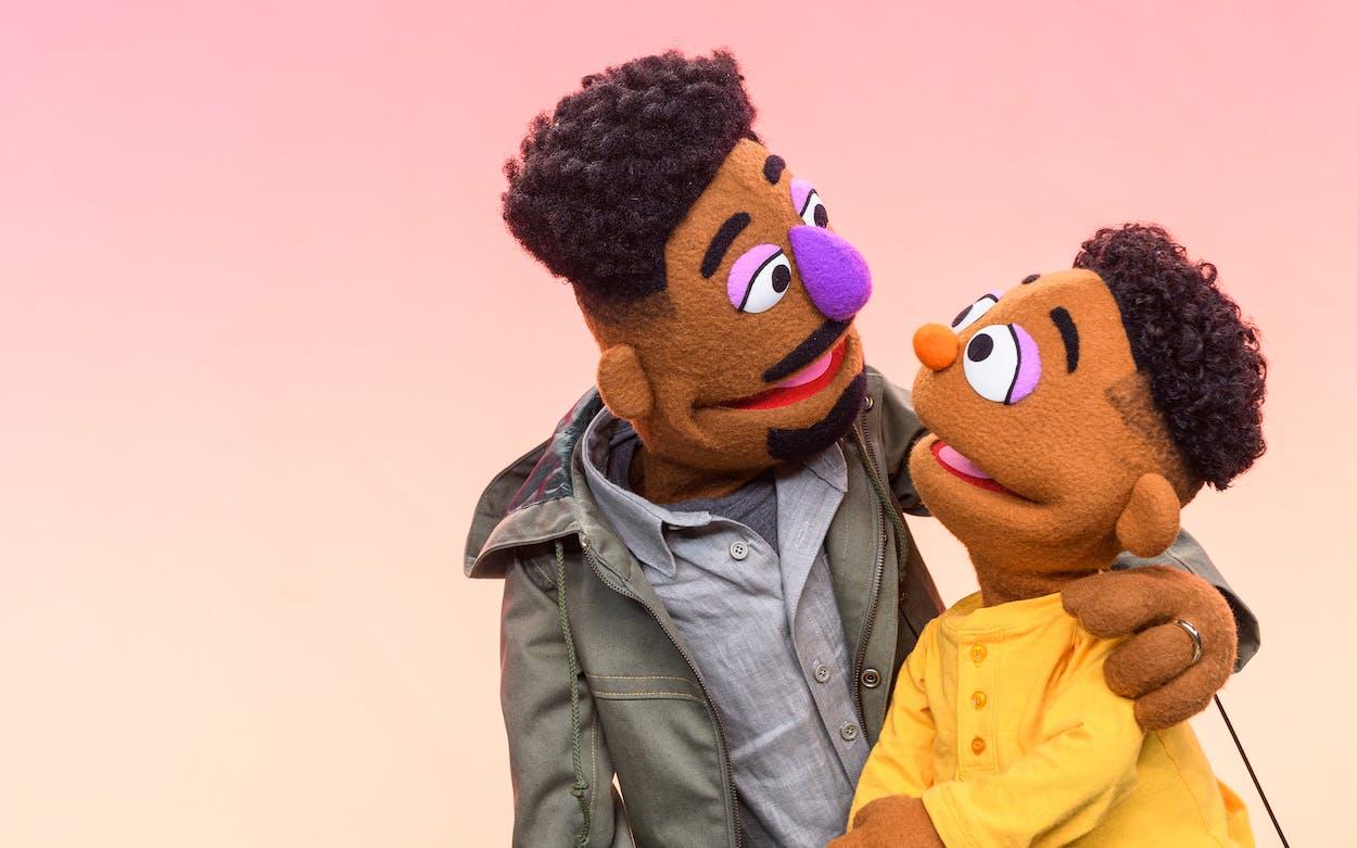Sesame Street muppets Elijah and Wesley