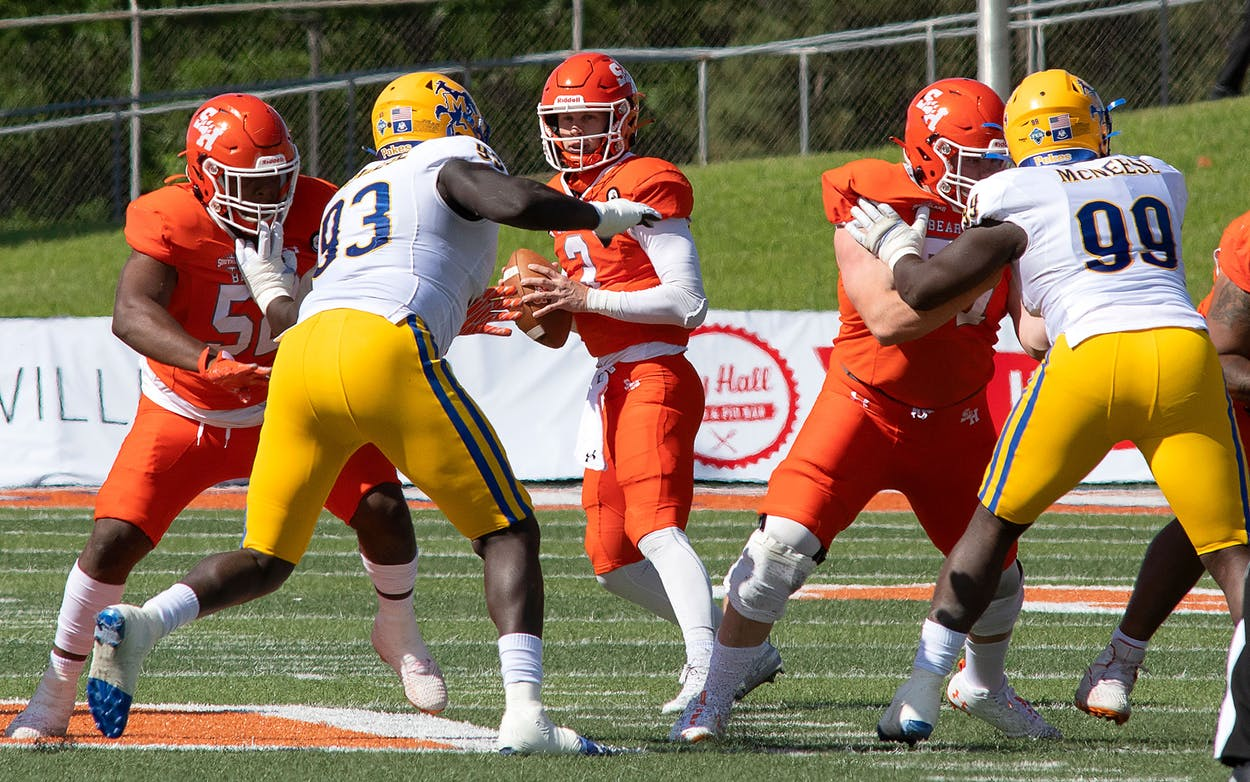 Sam Houston State University playing against McNeese State on April 10.