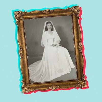 tik-tok-vintage-wedding-dress-history-illo