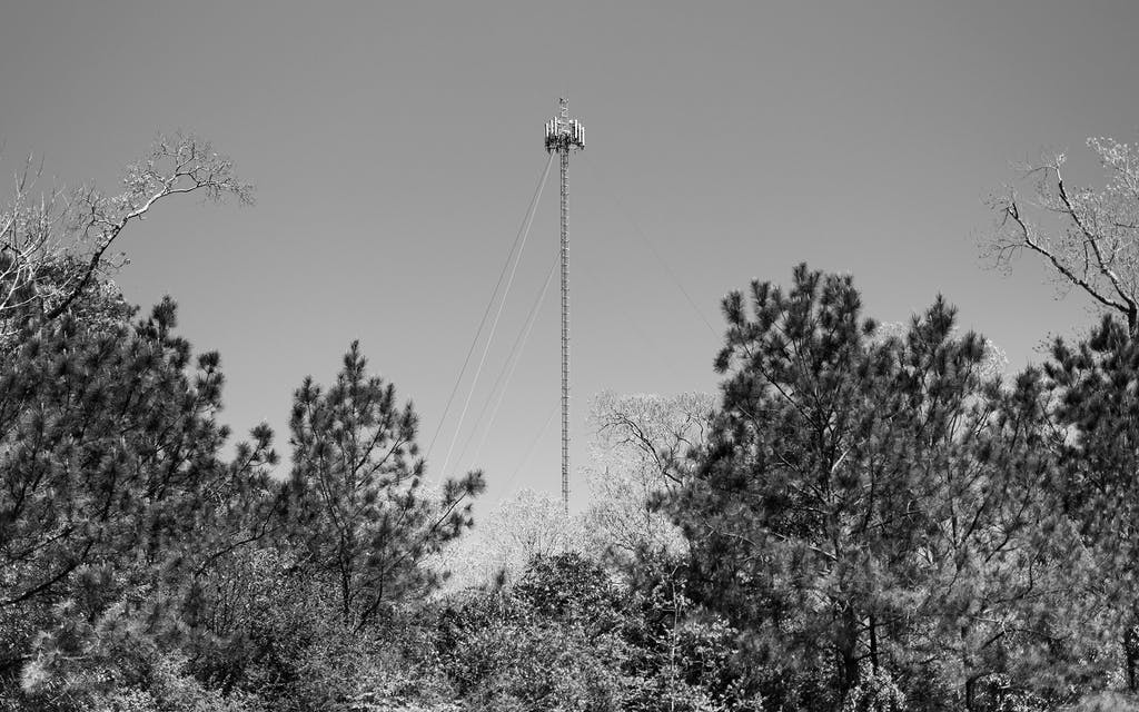 Cell tower in Jasper, Texas