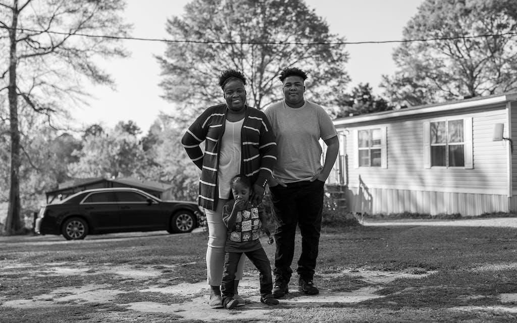 Family in Jasper, Texas