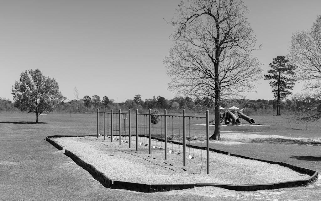 Empty playground in Jasper, Texas