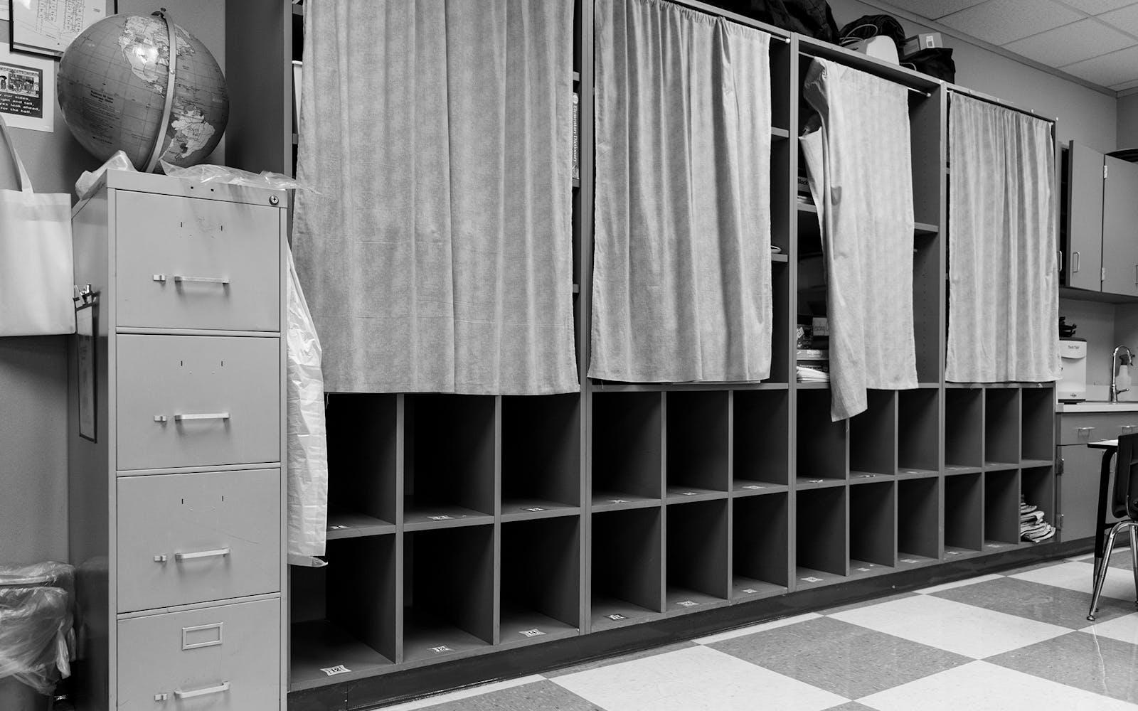 Empty school scene in Jasper, Texas