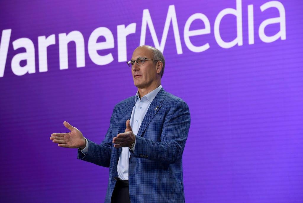 John Stankey, President & COO of AT&T and CEO of WarnerMedia, speaks onstage during the HBO Max WarnerMedia Investor Day Presentation at Warner Bros. Studios on October 29, 2019 in Burbank, California.