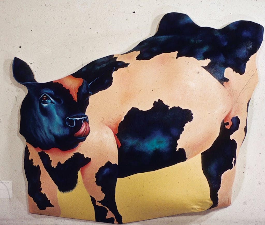 Barry Buxkamper's Stuffed Cow (1968).