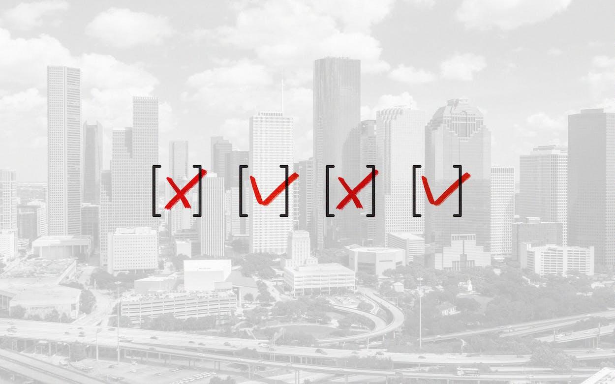 Greater Houston Partnership voting bill debates