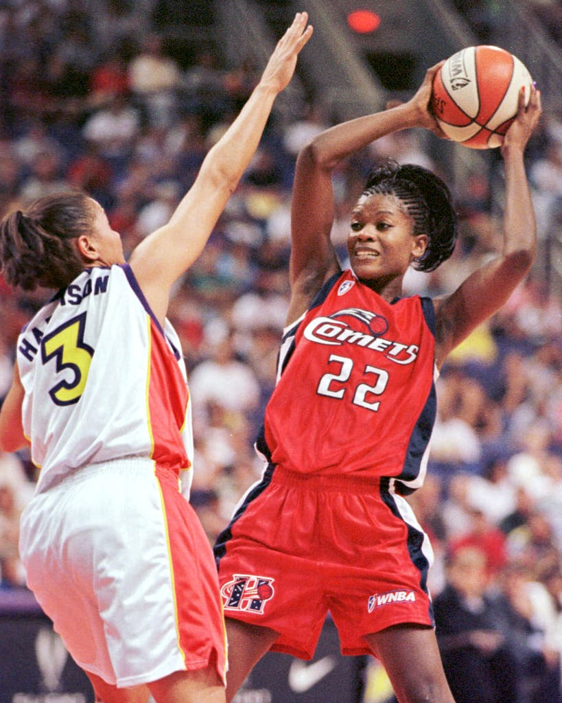Sheryl Swoopes during a game against the Mercury in Phoenix on July 19, 1999.