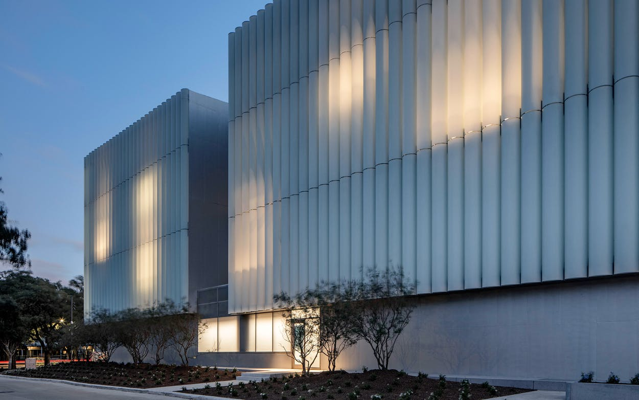 The Nancy and Rich Kinder Building at the Museum of Fine Arts, Houston, north facade