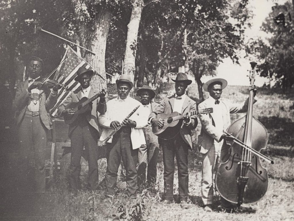 A band at a celebration for what was then called Emancipation Day, on June 19, 1900, in Austin.