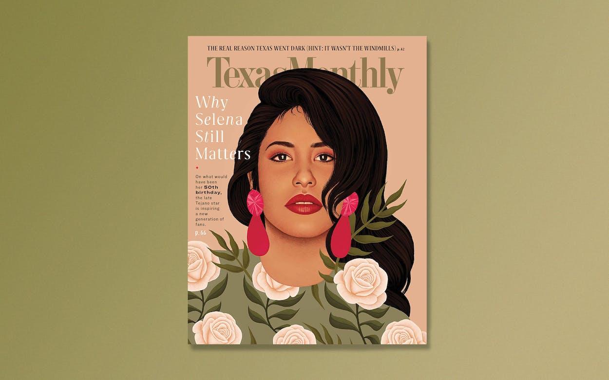 The Selena cover, April 2021.