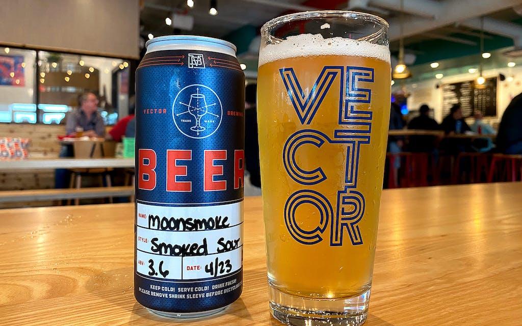 Vector Brewing's Moonsmoke beer.