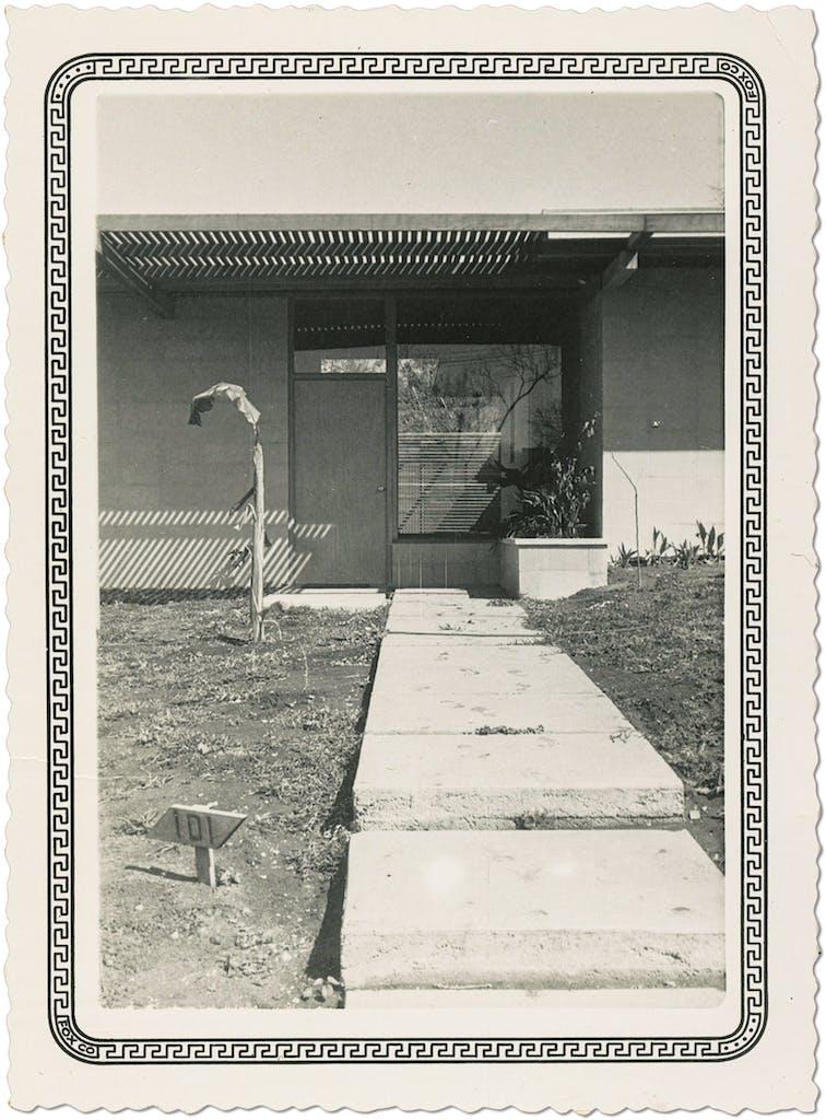 Swartz's childhood home, in 1955.