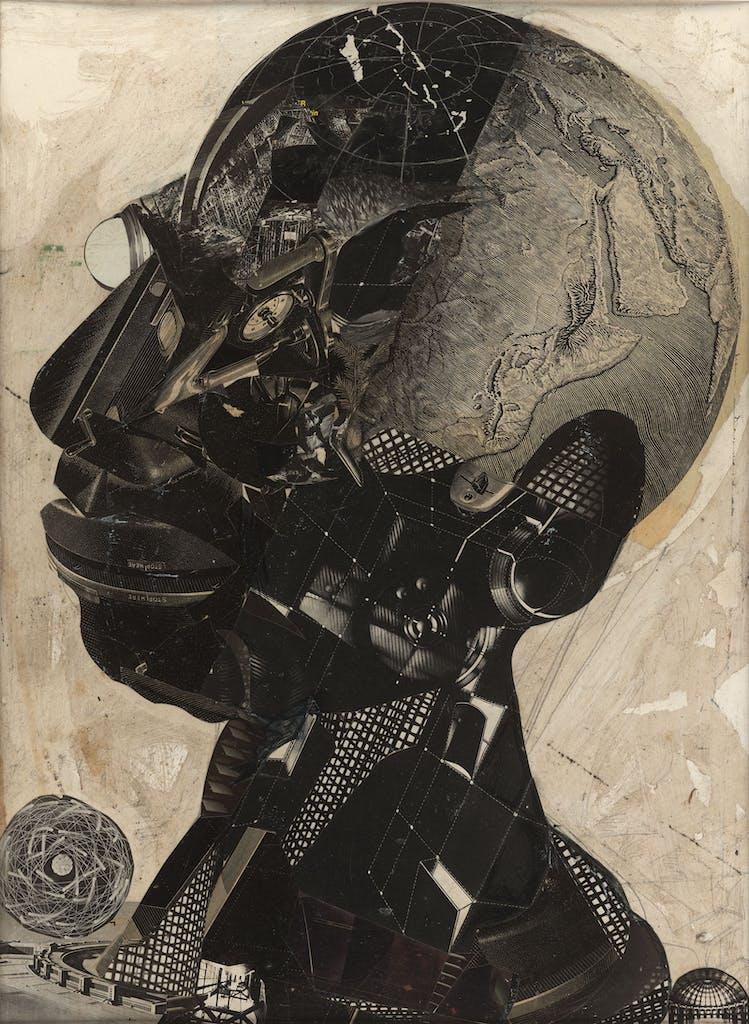 Jesse Lott's Collage Man.
