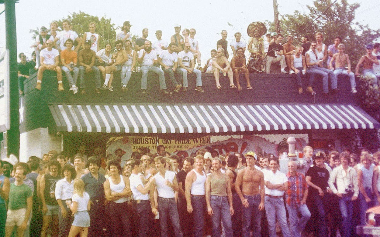The 1982 Pride Parade, in front of Mary's.