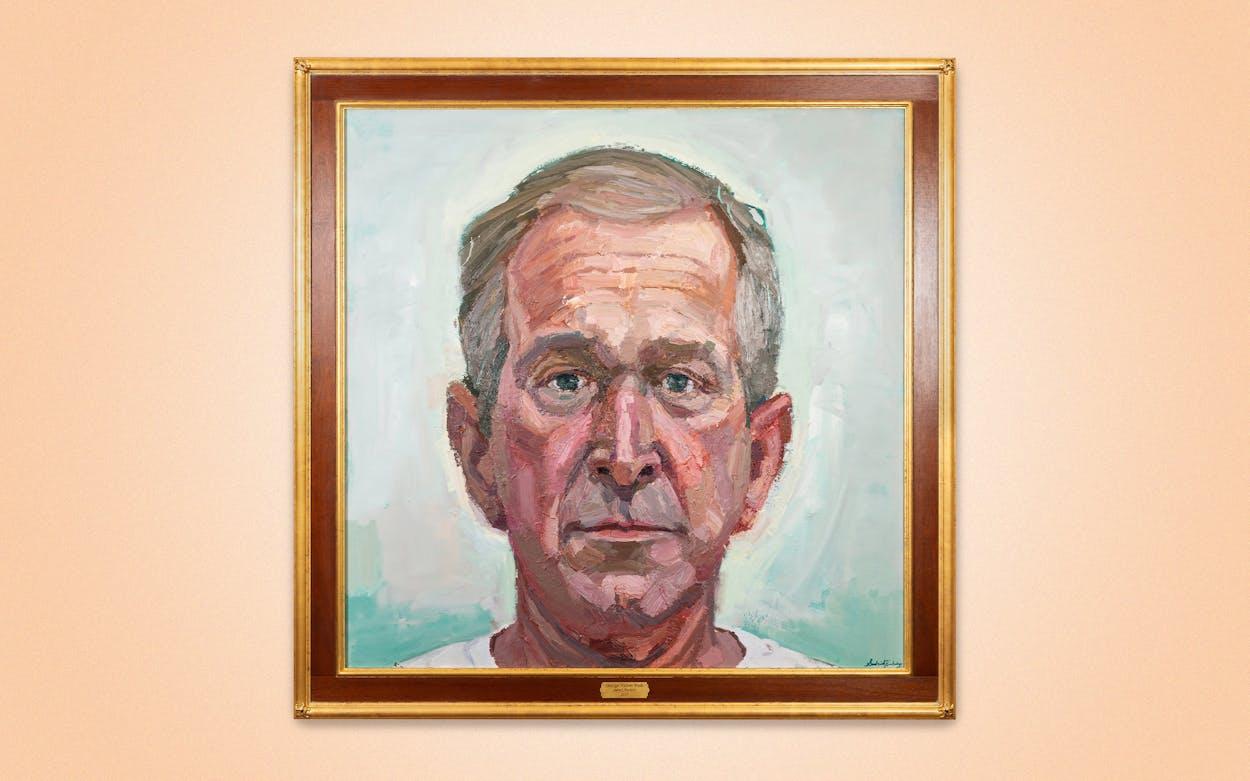 Sedrick Huckaby's painting, George Walker Bush.