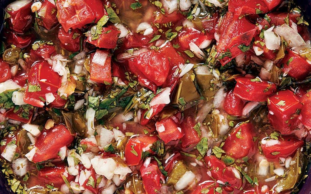 Smoked jalapeño salsa.
