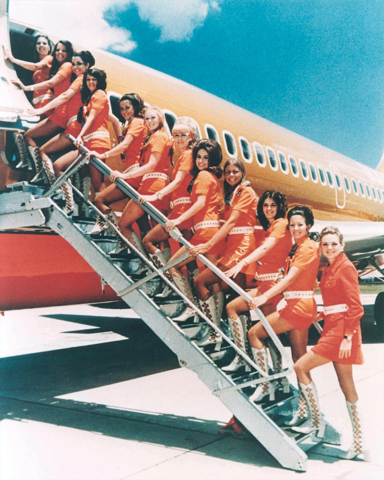 Southwest Airlines hostesses in the '70s.