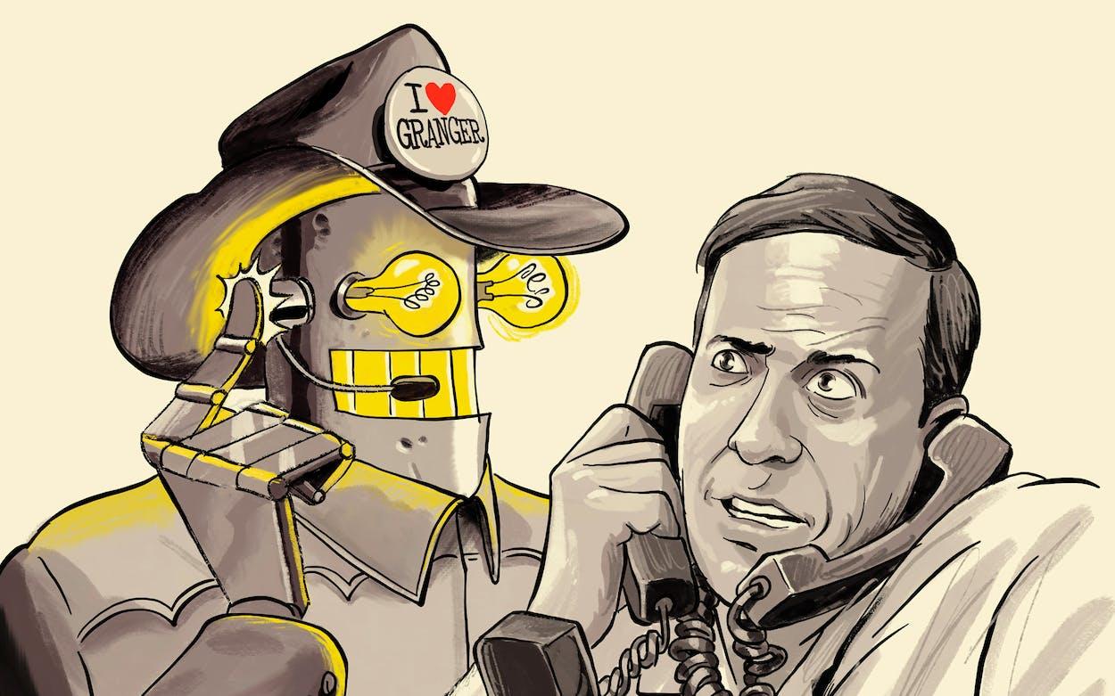 The texanist meets a telemarketer robot