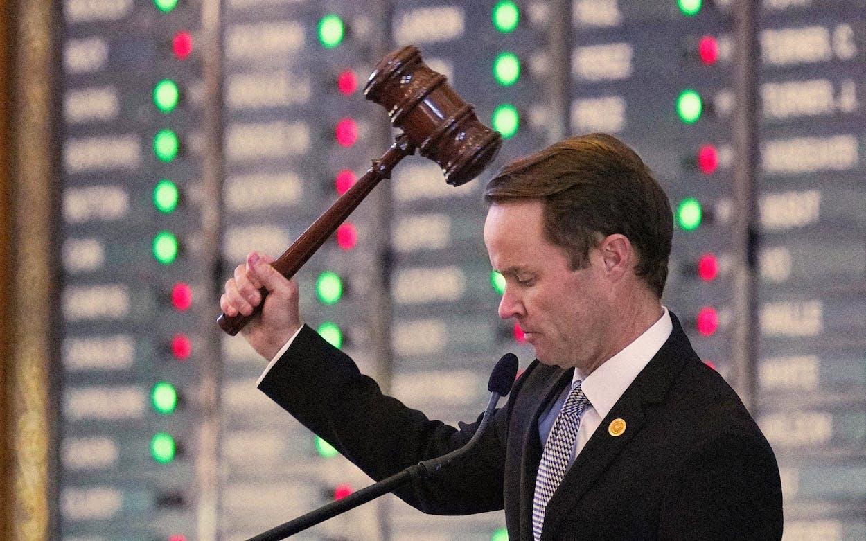 texas legislature end of session