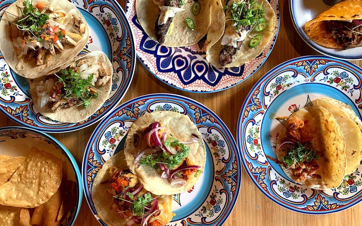 Tres Tacos spread