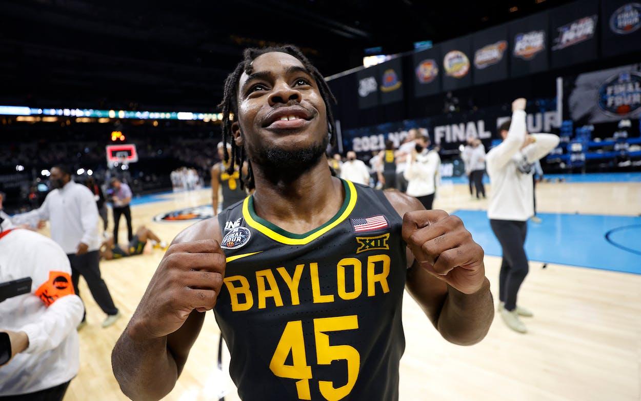 Davion Mitchell at the 2021 NCAA Men's Basketball Tournament