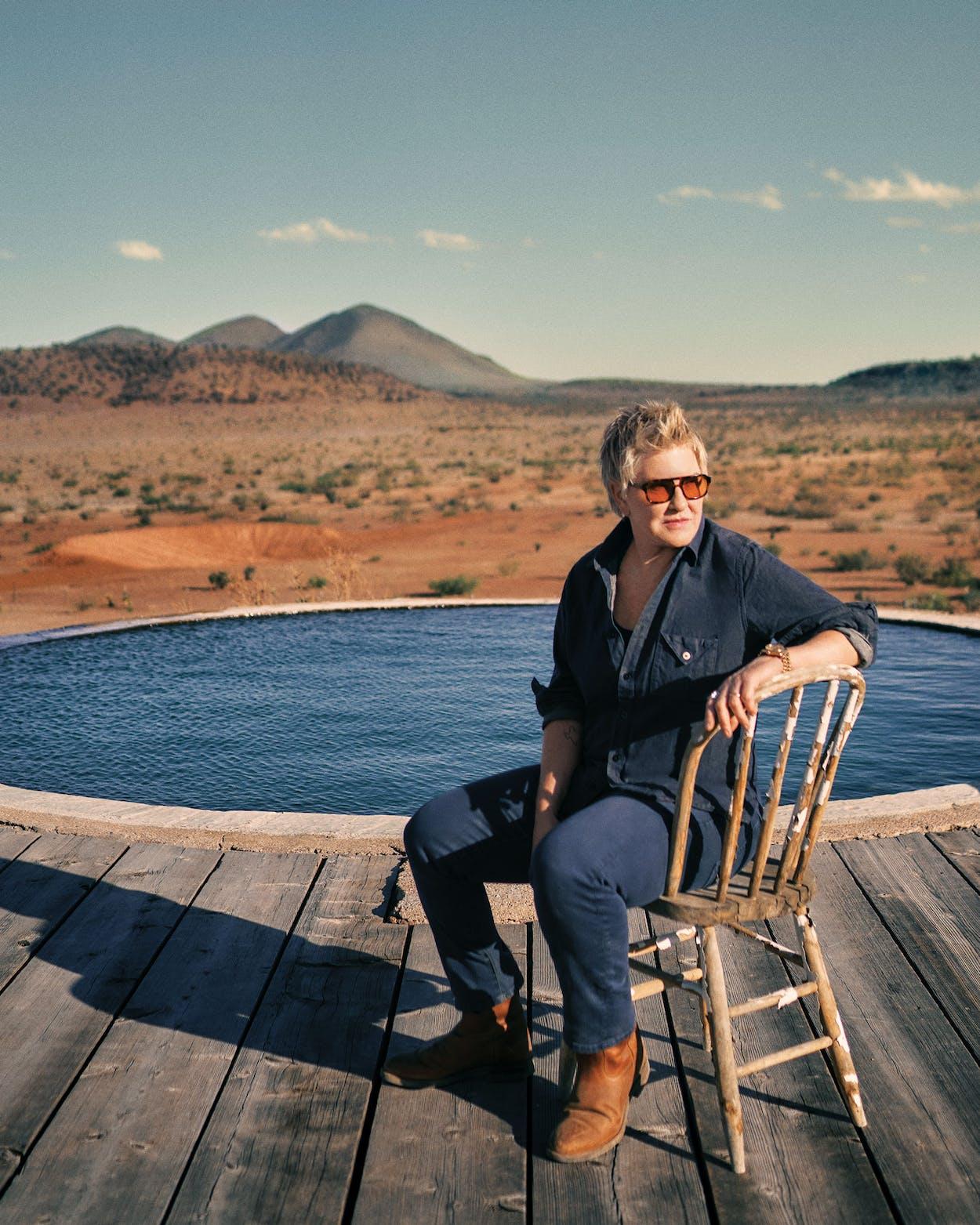Liz Lambert at her family's West Texas ranch.