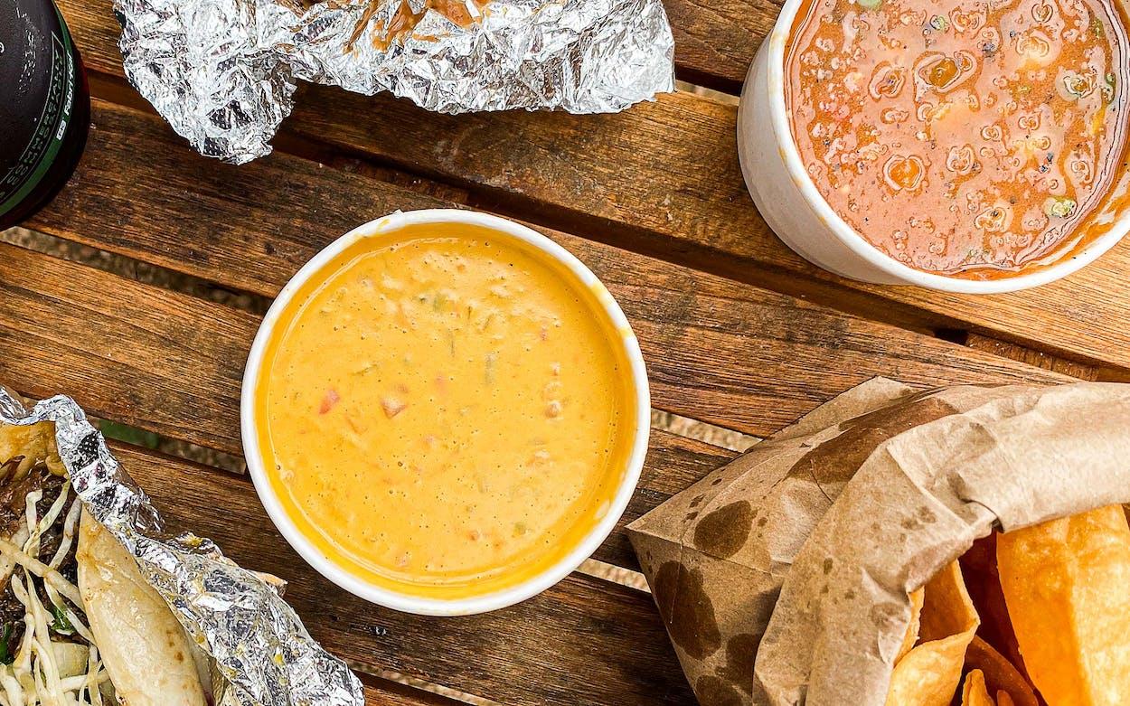 vegan queso at Veracruz