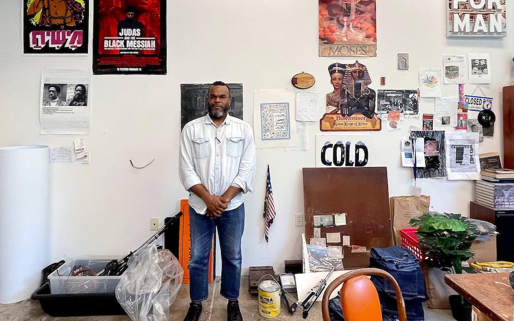 Jamal Cyrus in his Houston studio.